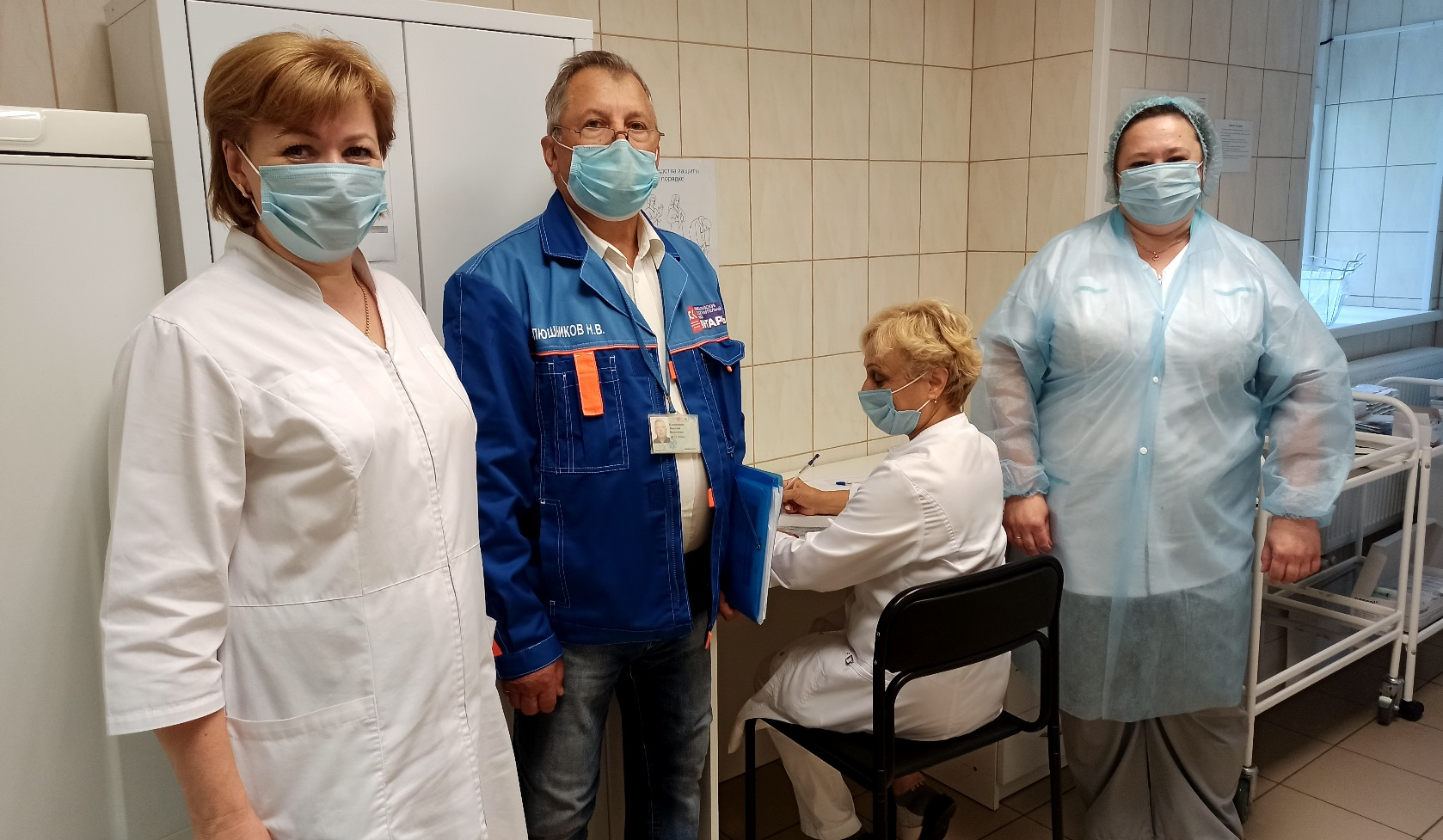 Вакцинации работников от коронавируса